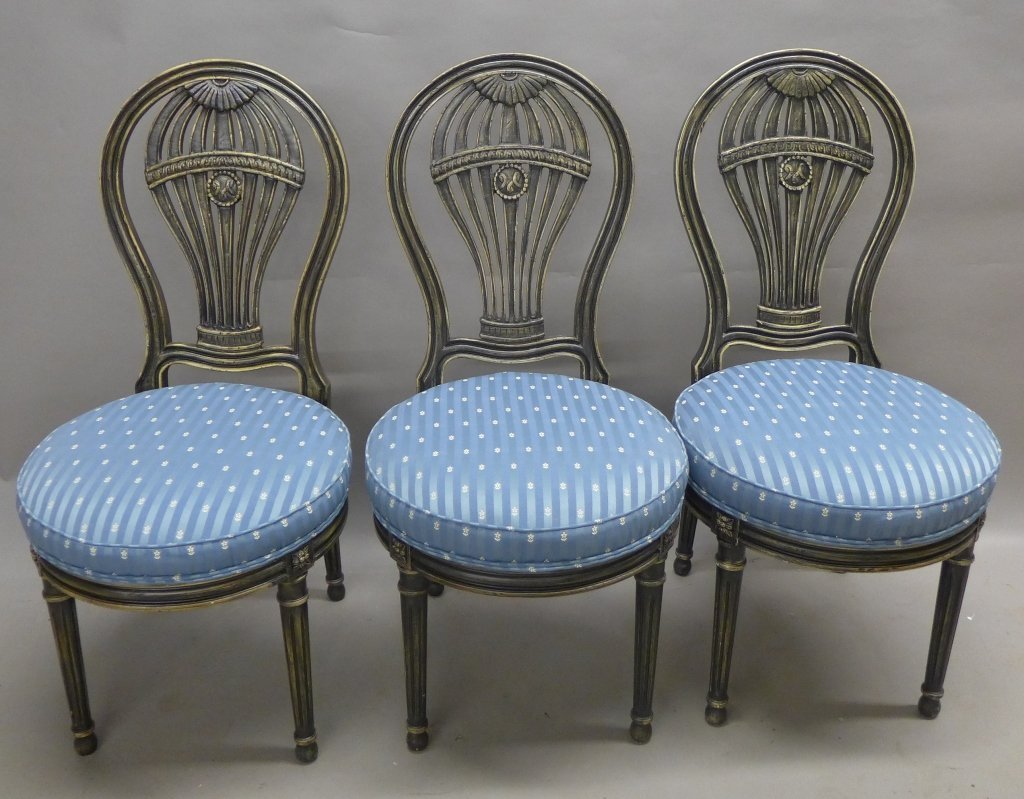 Set of Balloon Form Dining Chairs - 2