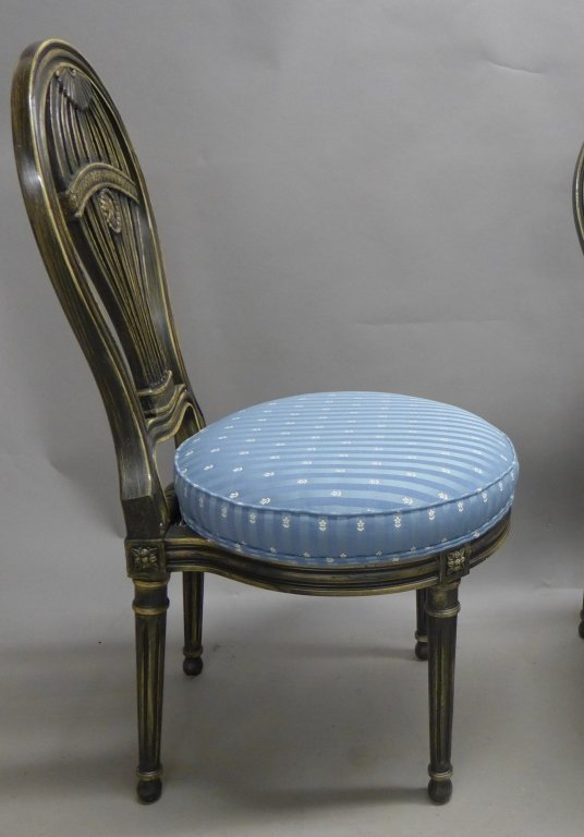 Set of Balloon Form Dining Chairs - 3