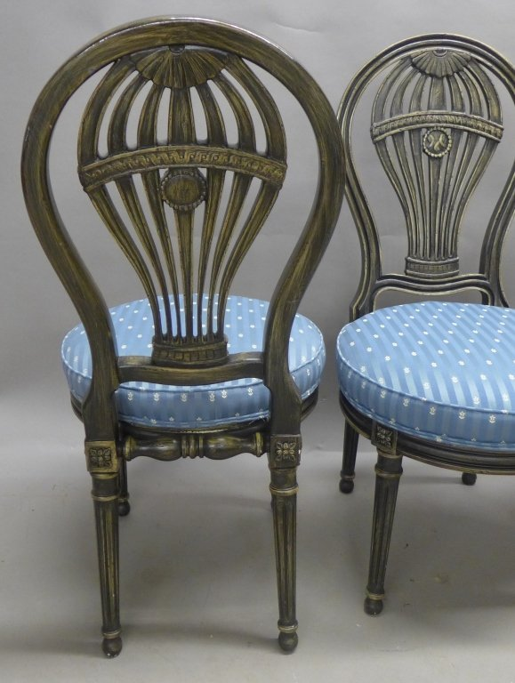 Set of Balloon Form Dining Chairs - 5