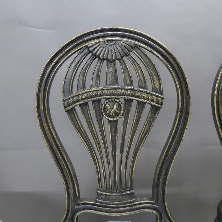 Set of Balloon Form Dining Chairs - 7