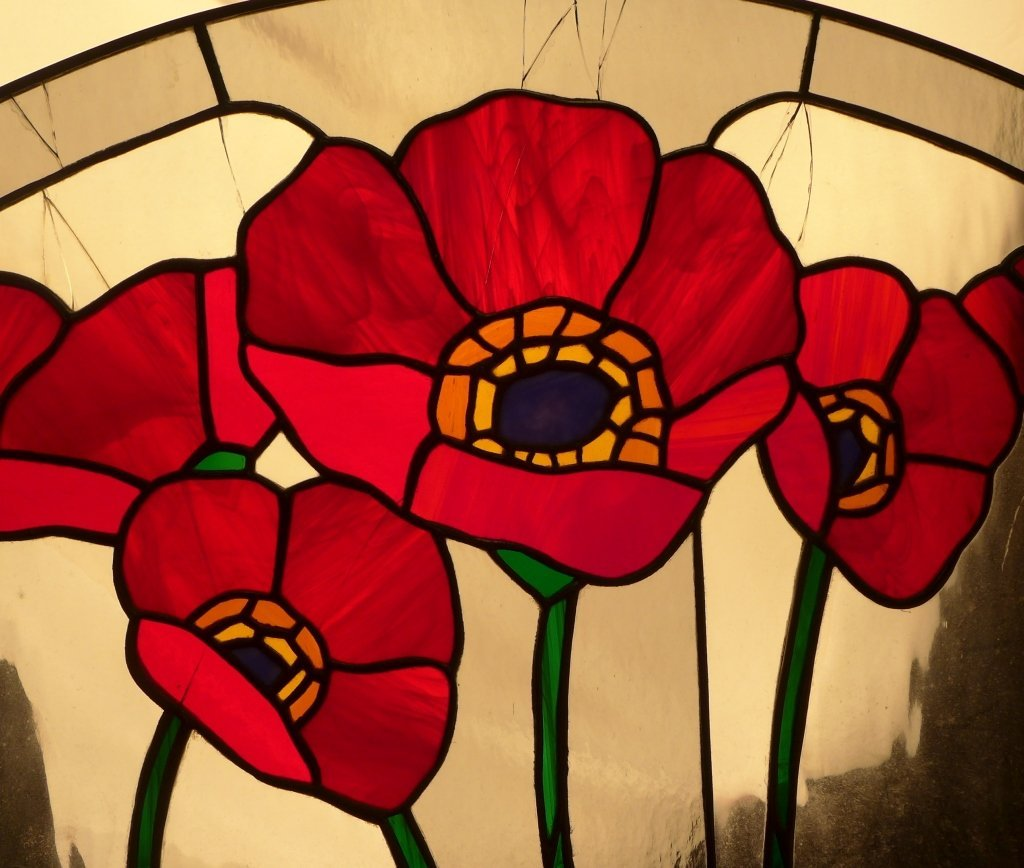 Stained Glass Arch Panel - 6