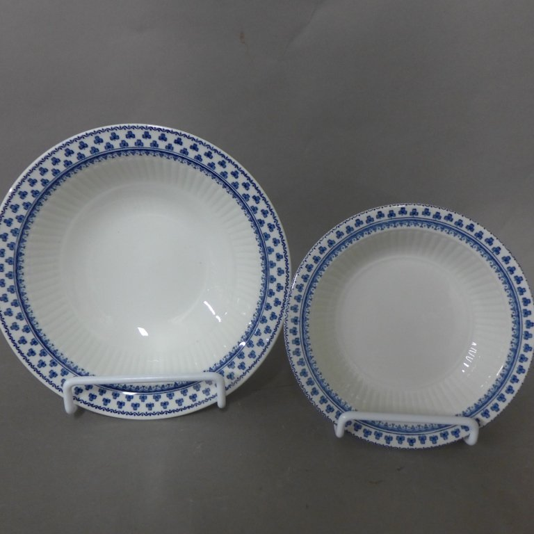 Brentwood Empress Blue Clover Rib White Fine China - 7