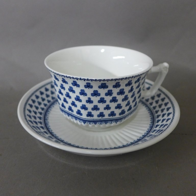 Brentwood Empress Blue Clover Rib White Fine China - 8