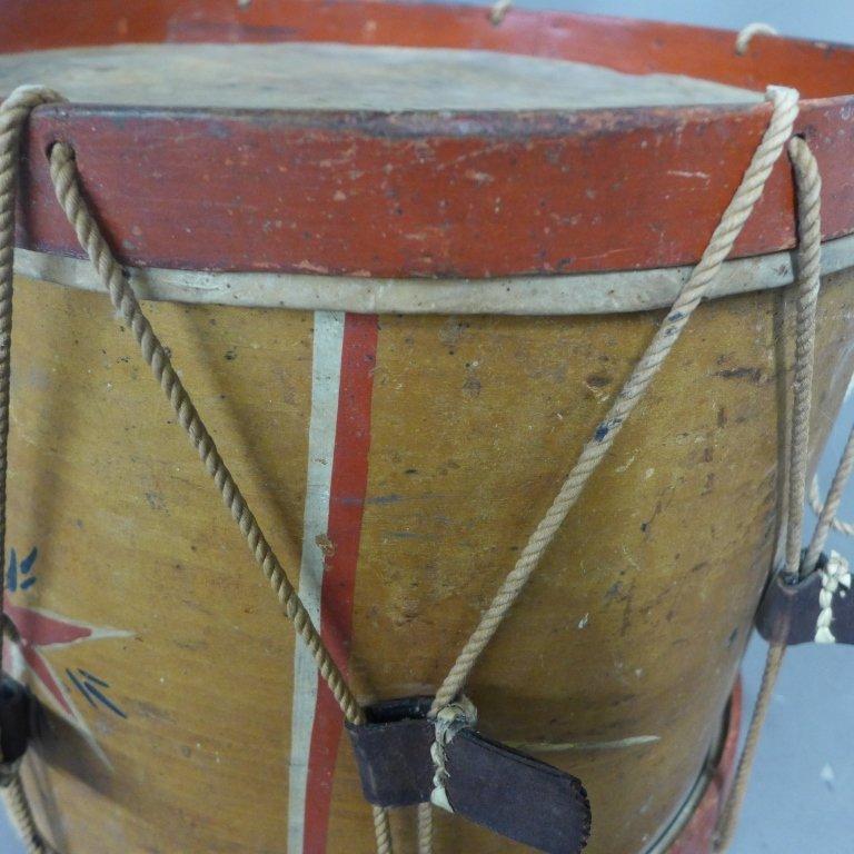Antique Painted Drum - 10