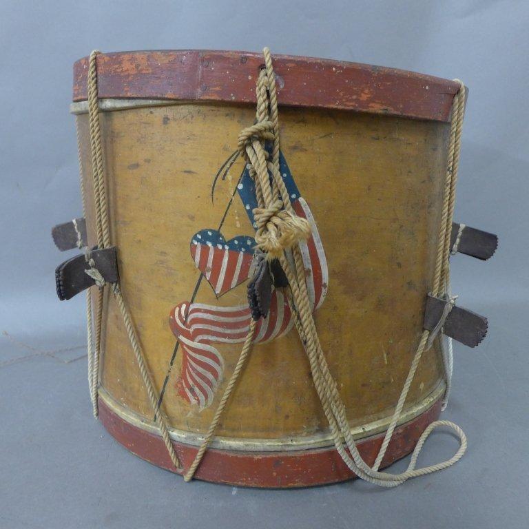 Antique Painted Drum
