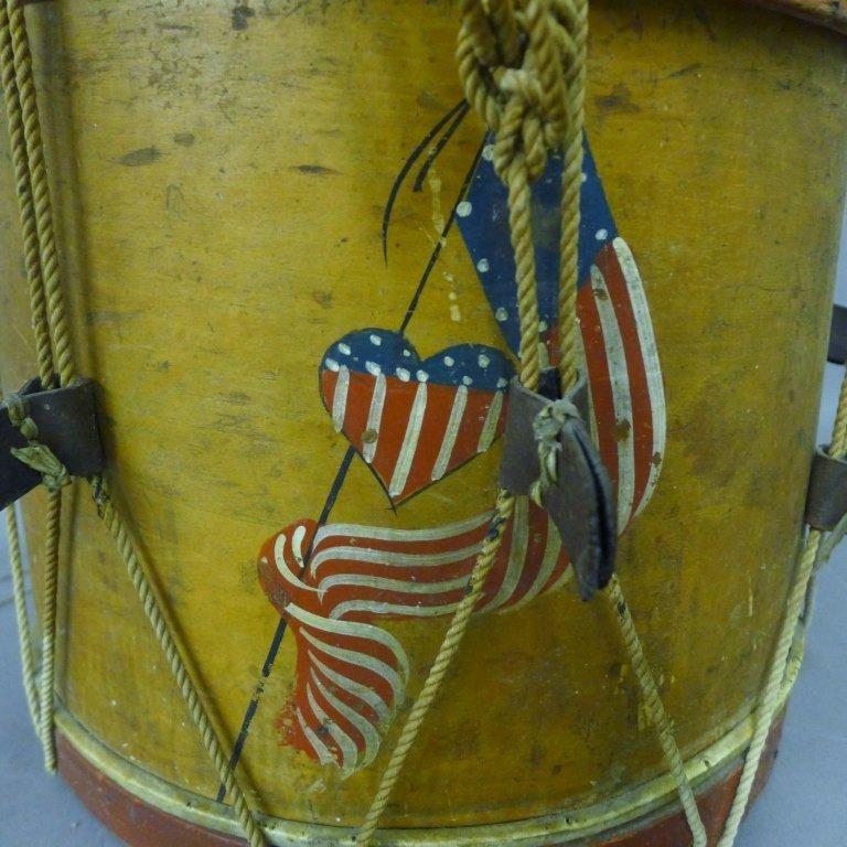 Antique Painted Drum - 2