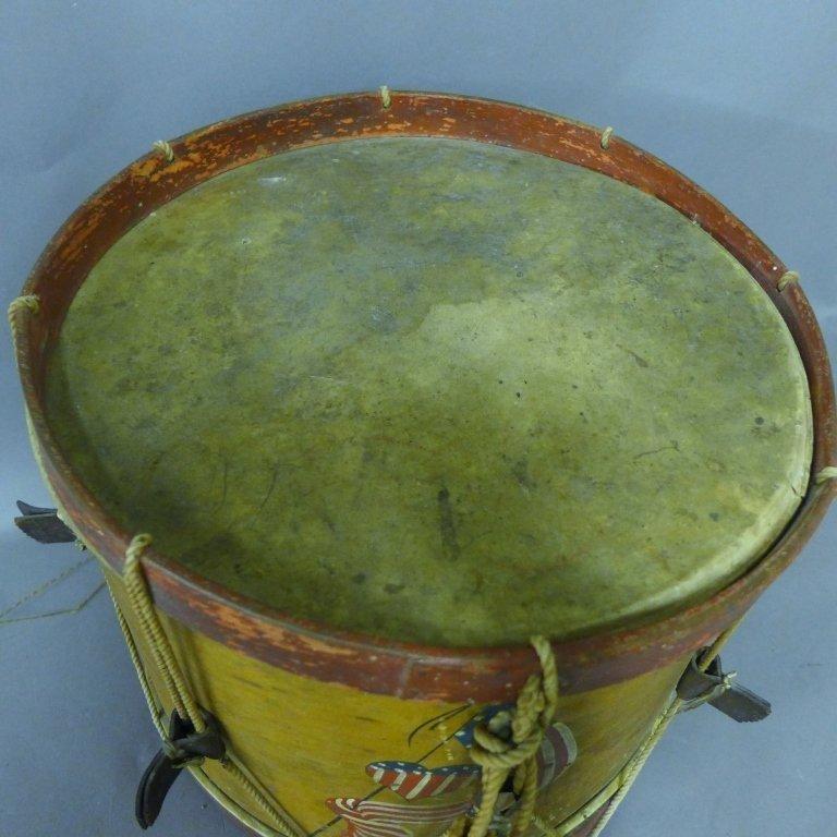 Antique Painted Drum - 3