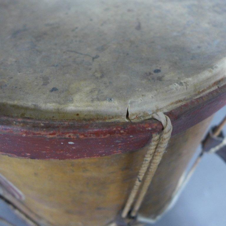 Antique Painted Drum - 4