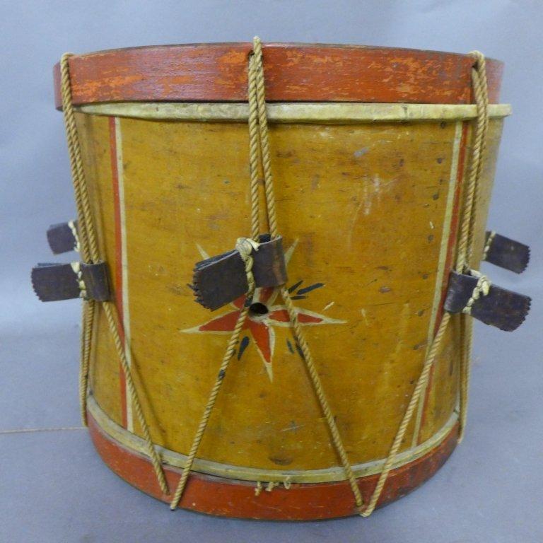 Antique Painted Drum - 5