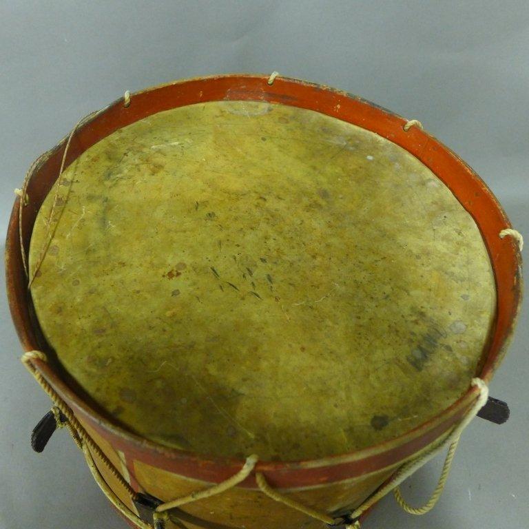 Antique Painted Drum - 6