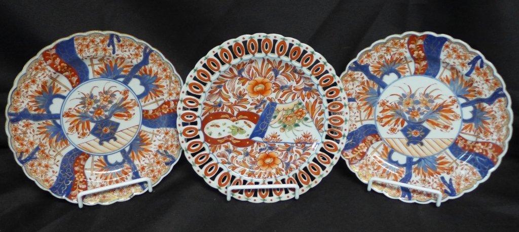Imari Porcelain Plate Group