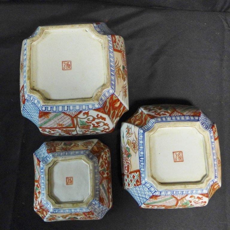 Imari Porcelain Nesting Bowls - 10