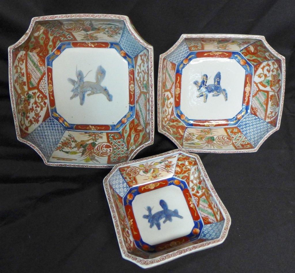 Imari Porcelain Nesting Bowls