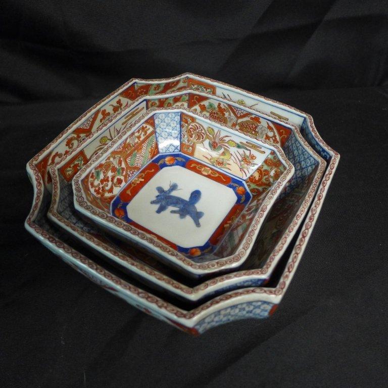Imari Porcelain Nesting Bowls - 3