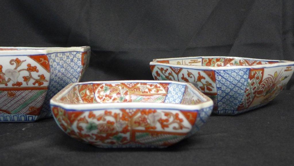 Imari Porcelain Nesting Bowls - 9