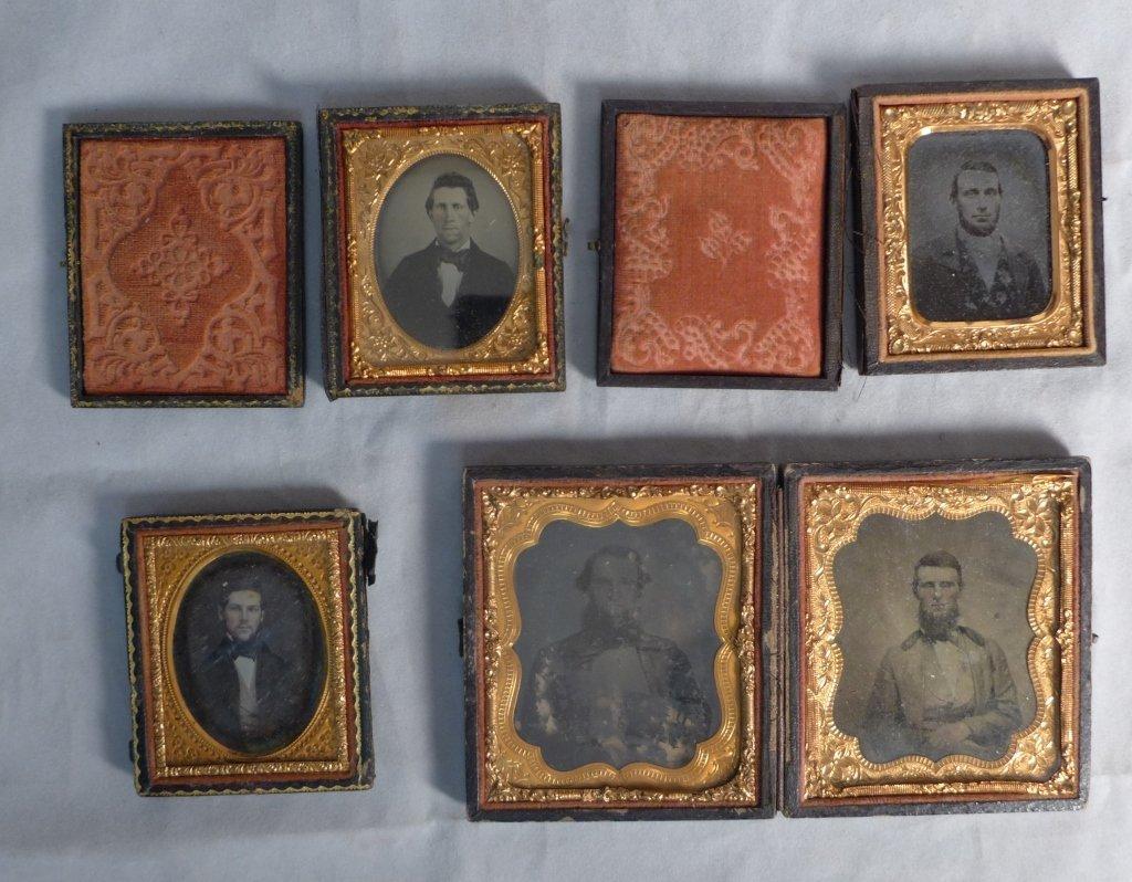 Cased Victorian Ambrotypes / Daguerreotypes of Men - 10