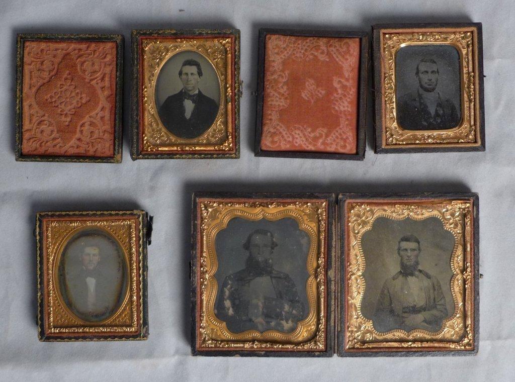 Cased Victorian Ambrotypes / Daguerreotypes of Men