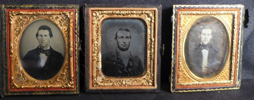 Cased Victorian Ambrotypes / Daguerreotypes of Men - 2