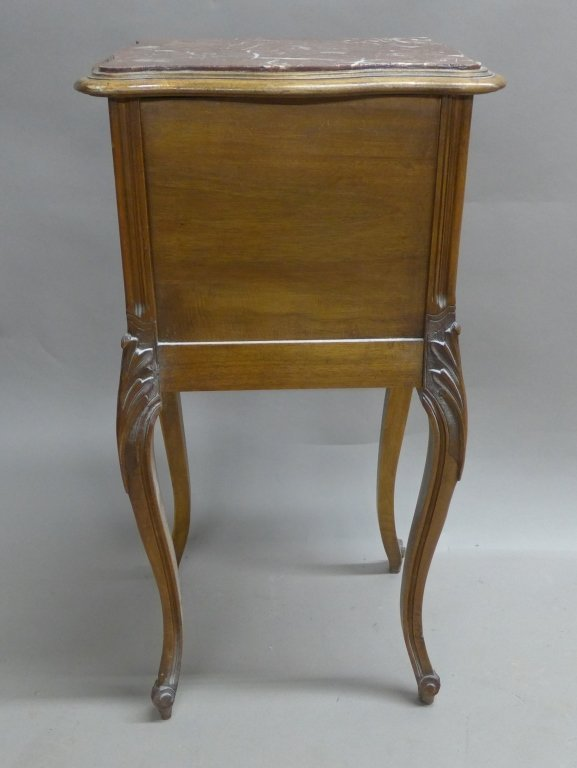 Antique Marble Top Nightstand - 10
