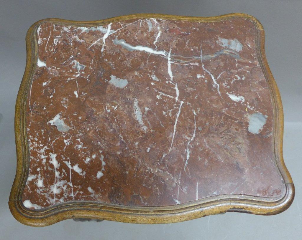 Antique Marble Top Nightstand - 7