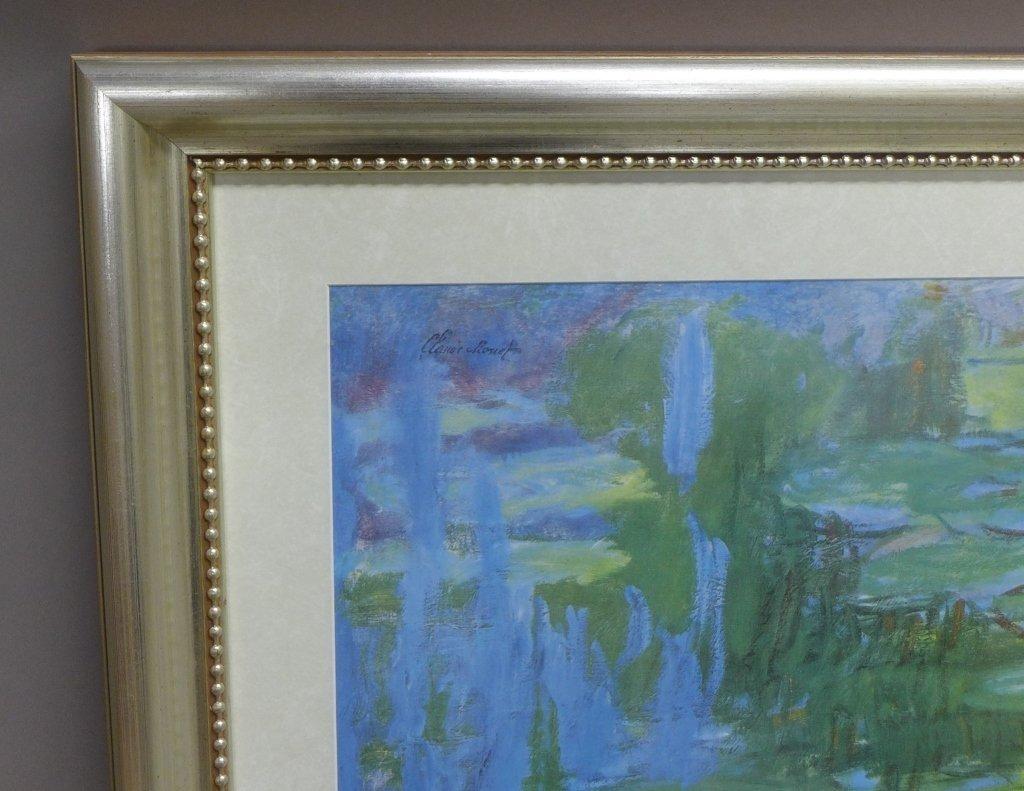 Claude Monet Framed Print of Water Lillies - 3