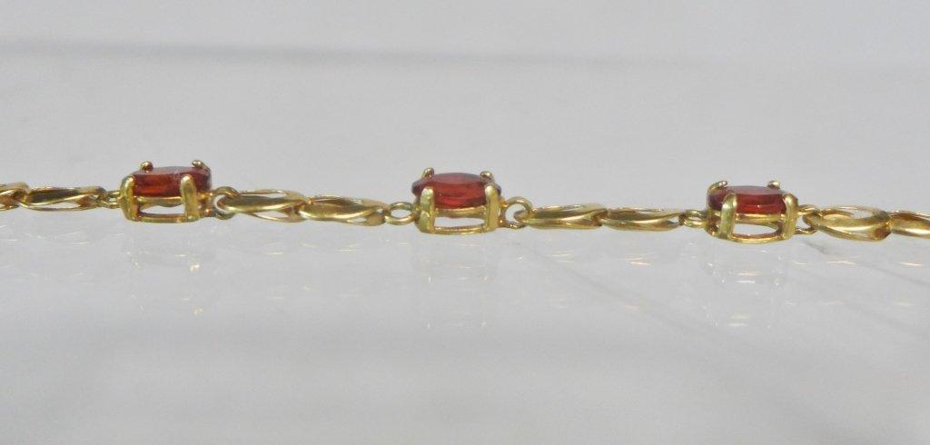 Gold & Ruby Designer Tennis Bracelet - 3