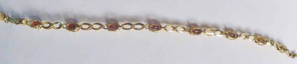 Gold & Ruby Designer Tennis Bracelet - 5