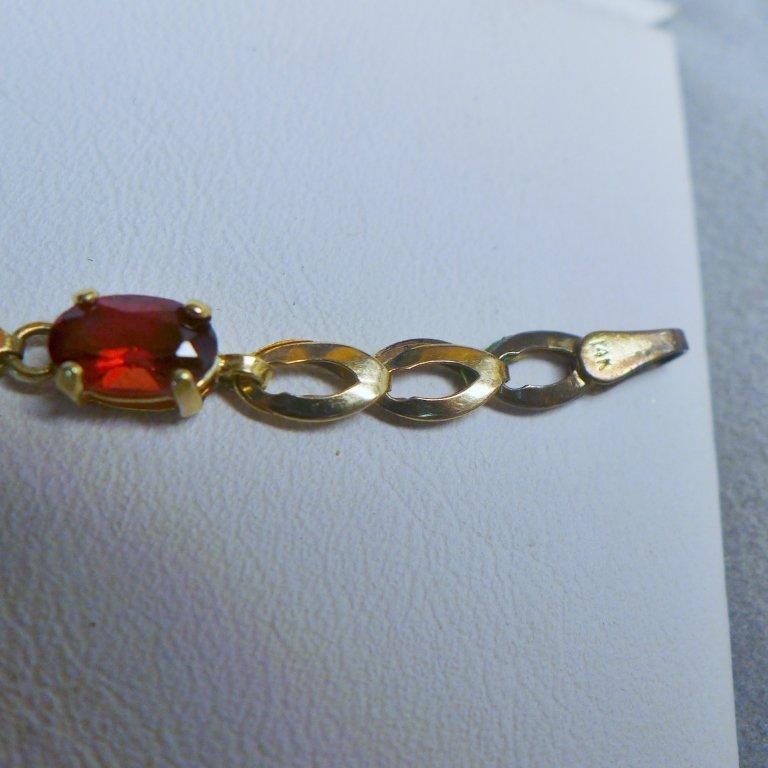 Gold & Ruby Designer Tennis Bracelet - 8