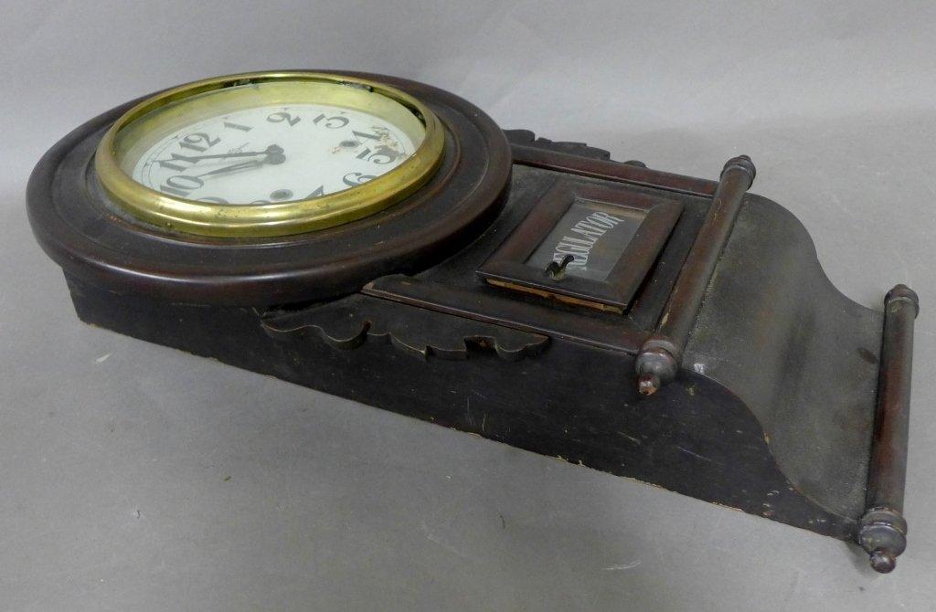 Antique Regulator Wall Clock - 2