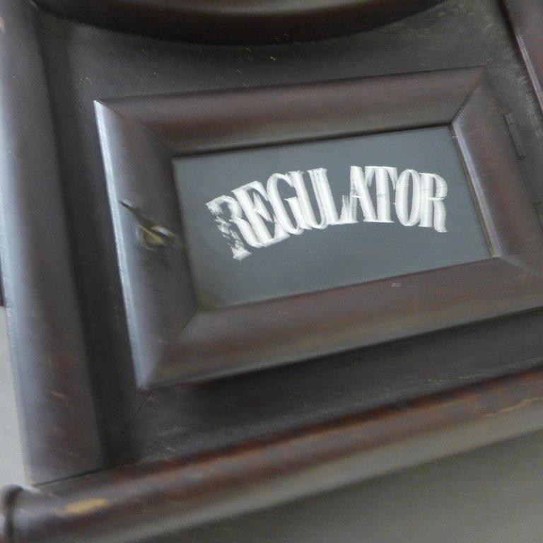 Antique Regulator Wall Clock - 3