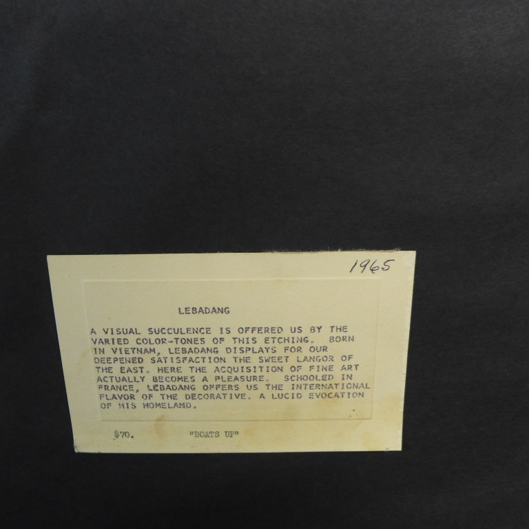 Hoi Lebadang, Viet Nam & France (1922- ) - 8