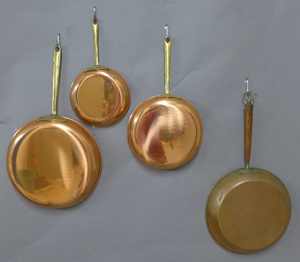 Vintage Portuguese Copral Copper Skillet Set