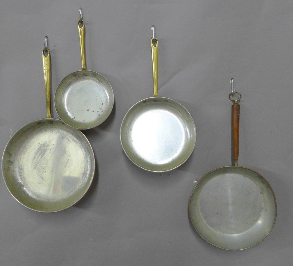 Vintage Portuguese Copral Copper Skillet Set - 7