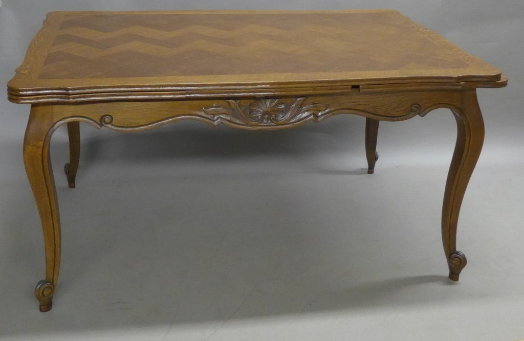 French Basket-Weave Dining Table
