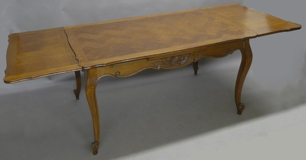 French Basket-Weave Dining Table - 2