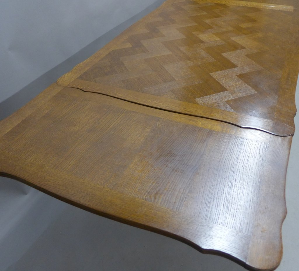 French Basket-Weave Dining Table - 3
