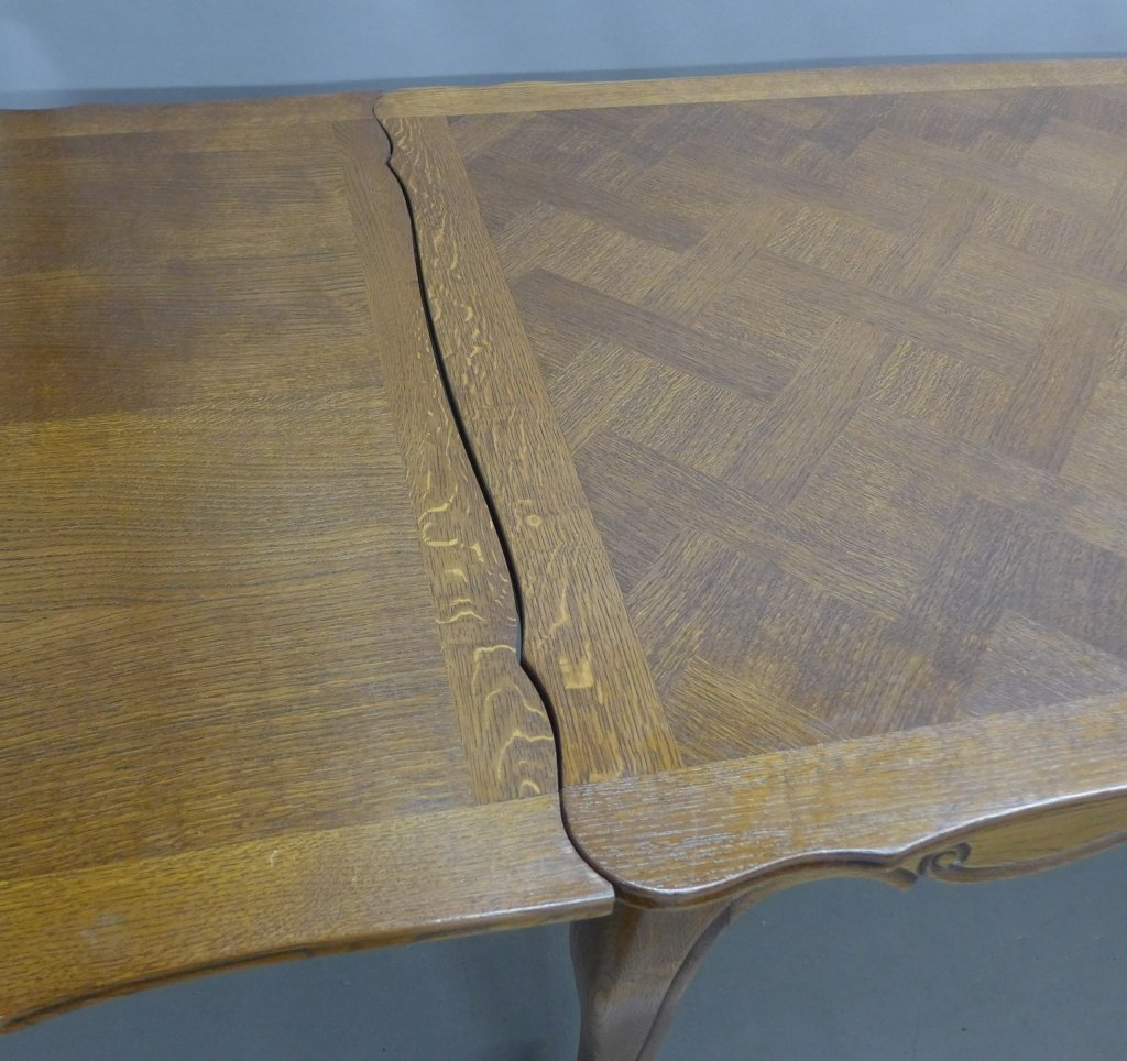 French Basket-Weave Dining Table - 4
