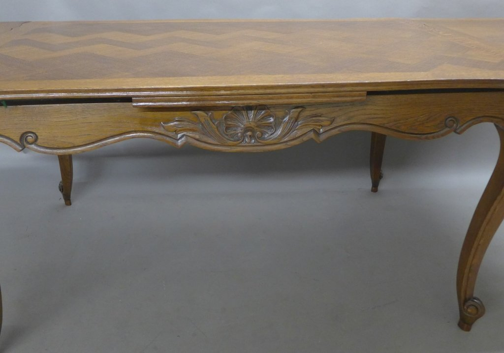 French Basket-Weave Dining Table - 5
