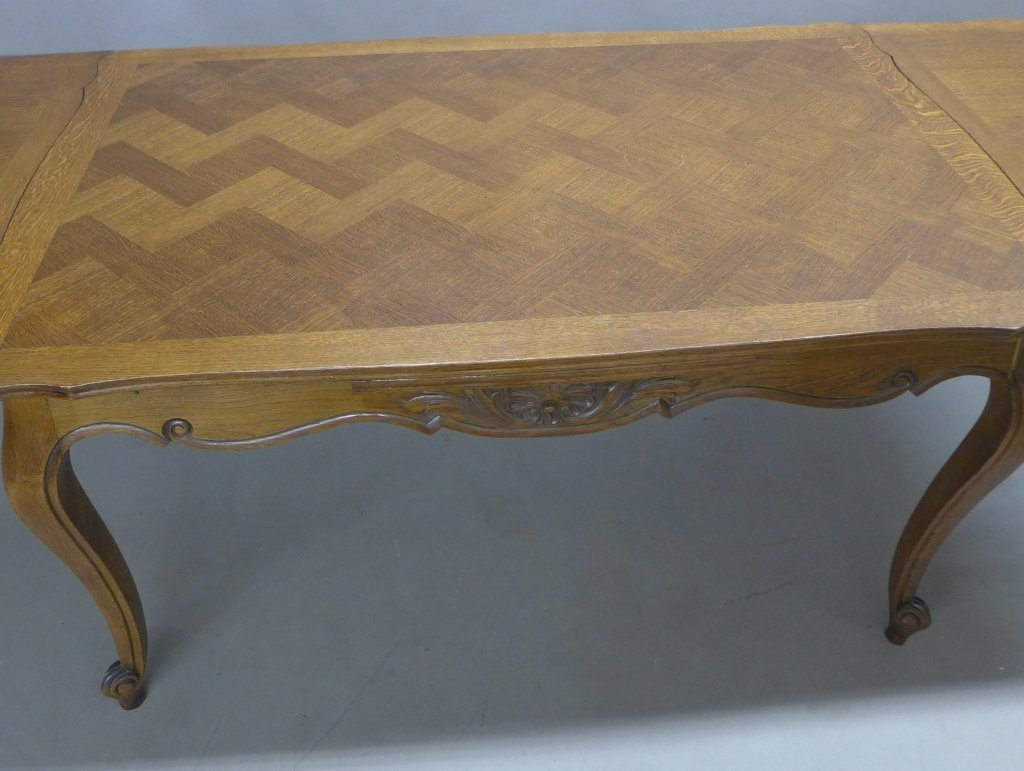 French Basket-Weave Dining Table - 6