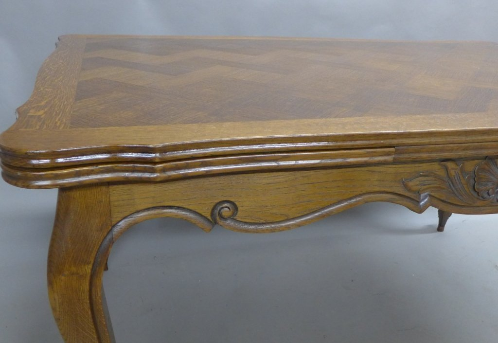 French Basket-Weave Dining Table - 7