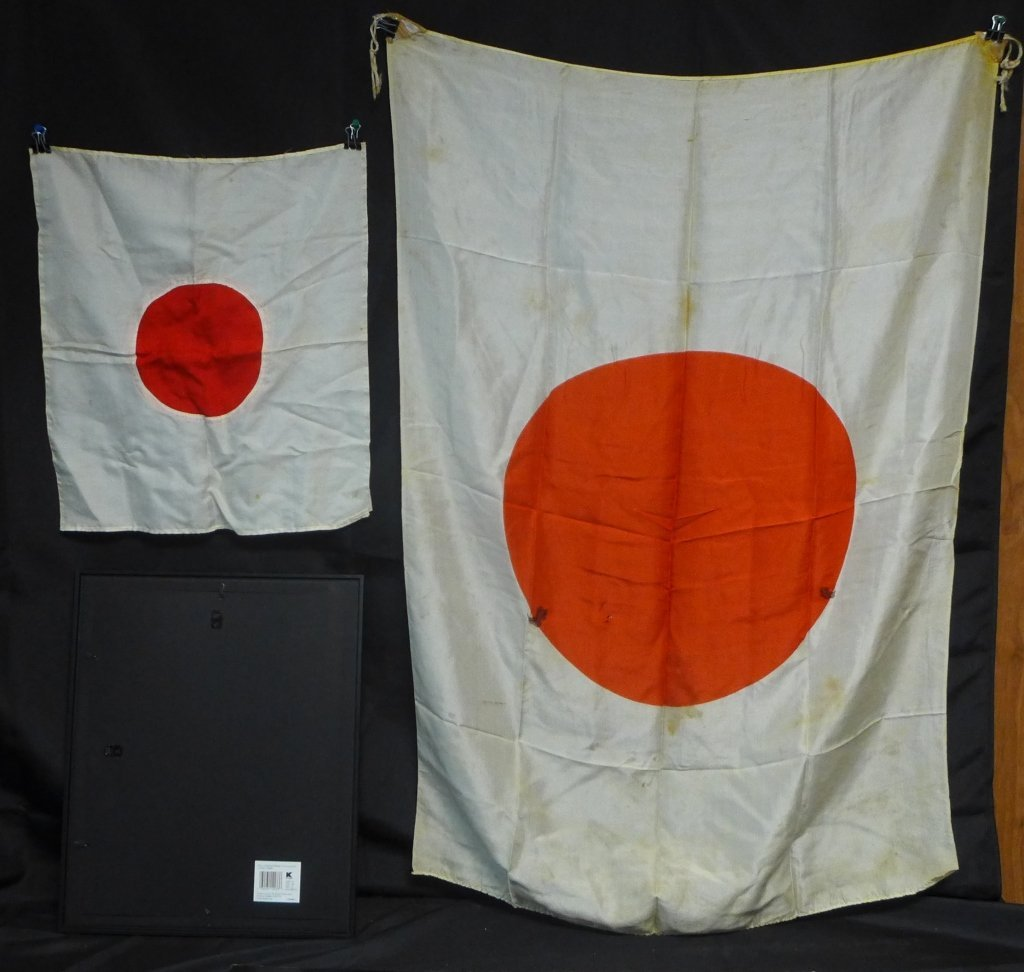 Set of 3 Japanese WWII Meatball Flags - 5