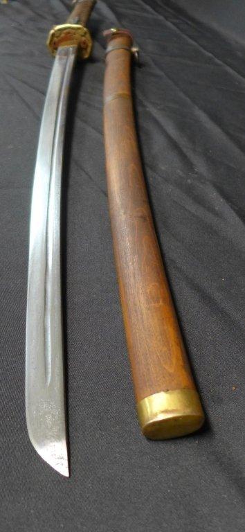 Japanese WWII Katana with Signed Blade - 9