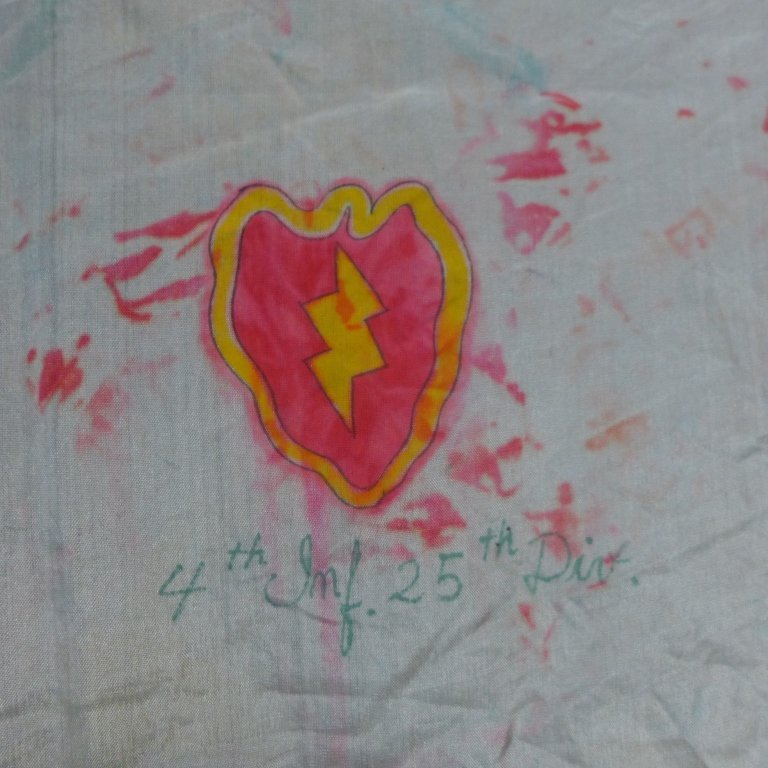 WWII Japanese Prayer Flag with Infantry Insignia - 3