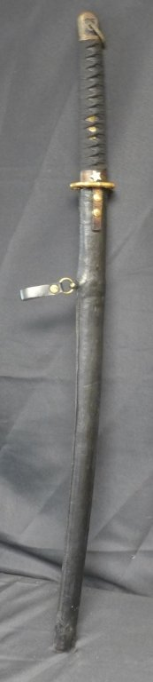 Katana Sword with Leather Scabbard - 2
