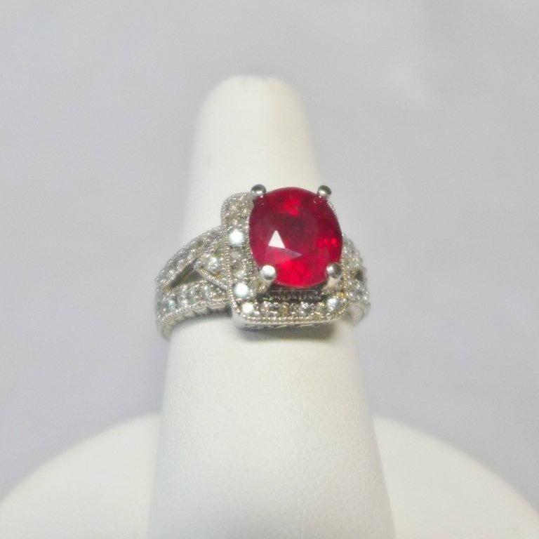 Diamond & Ruby Solitaire Ring