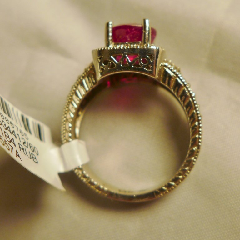 Diamond & Ruby Solitaire Ring - 9