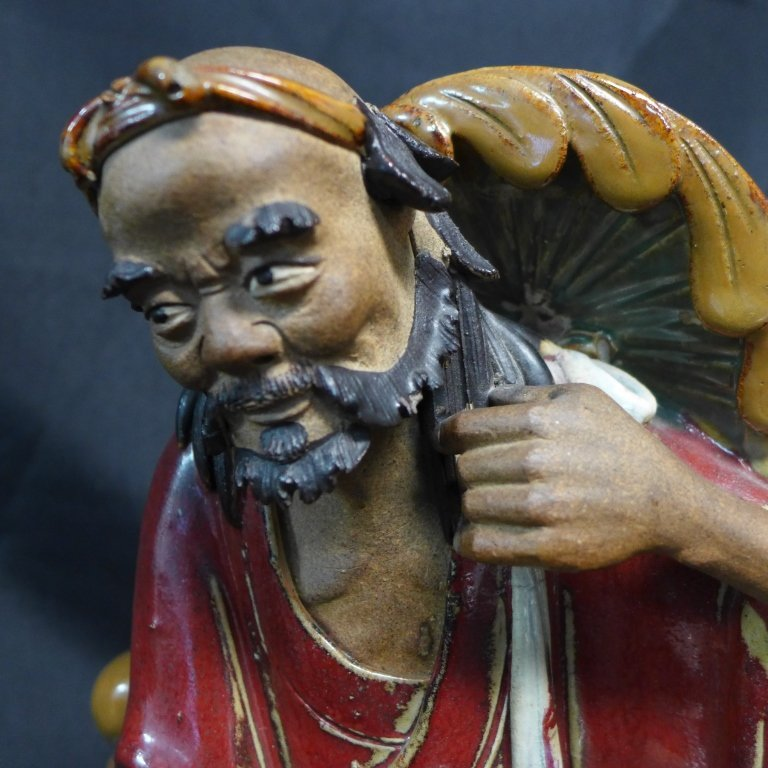 Asian Shiwan Porcelain Figural Sculpture - 8