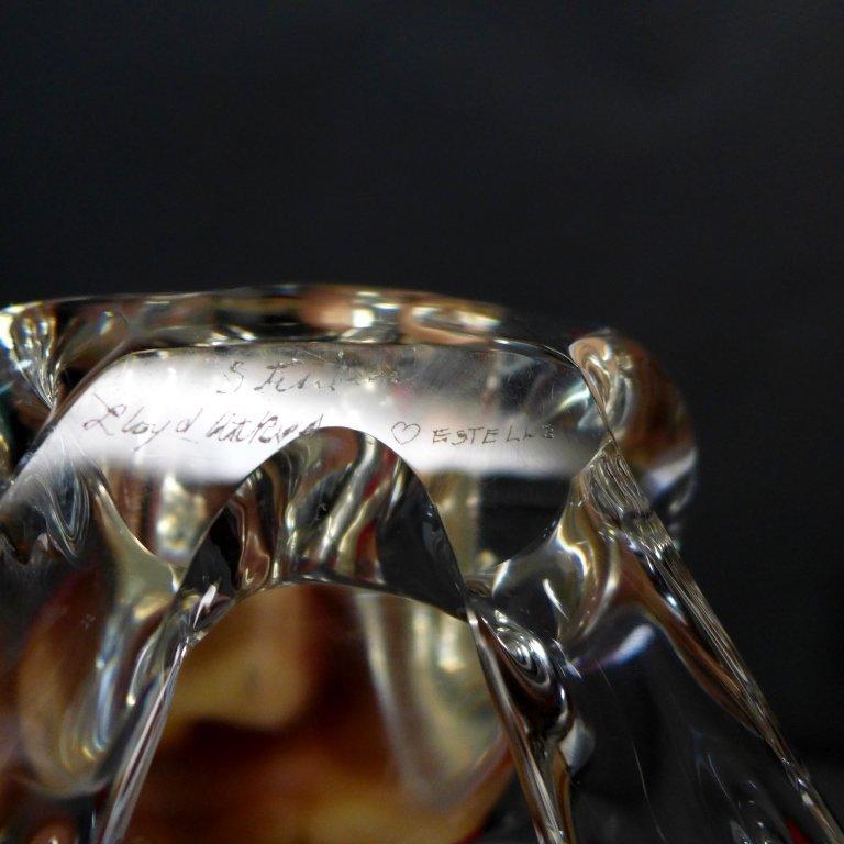 Steuben Glass Frog Prince w/ 18K Gold Crown - 5