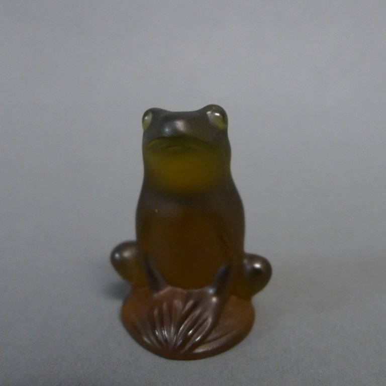 Lalique Rainette Crystal Frog Figurine - 2