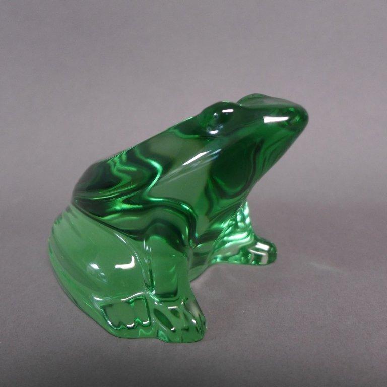 Baccarat Green Crystal Frog